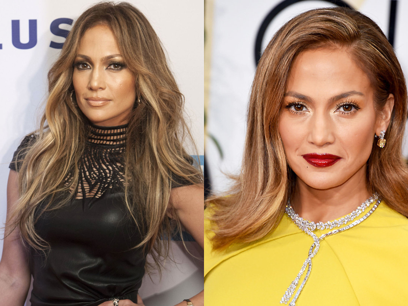 Celebrities With Hair Extensions Before And After + J Lo Hair Extensions