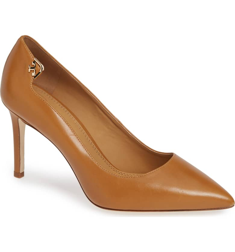 What Color Shoes To Wear With A Red Dress Brown Shoes Elizabeth Pointy Toe Pump TORY BURCH Paris Chic Style 8