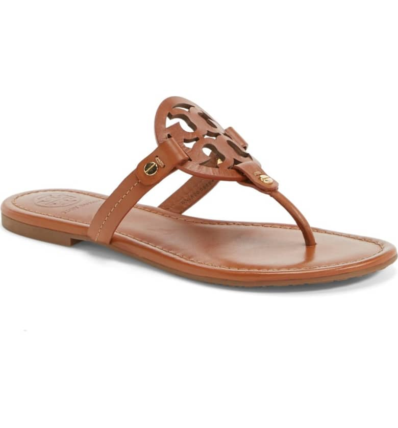 What Color Shoes To Wear With A Red Dress Brown Shoes Miller' Flip Flop TORY BURCH Paris Chic Style 4