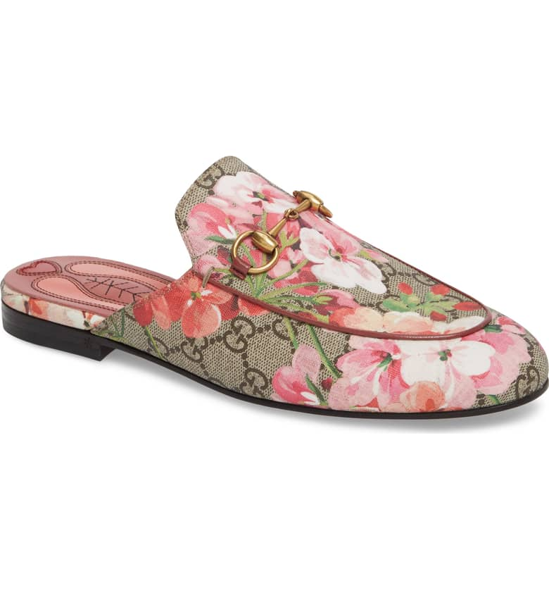 What Color Shoes To Wear With A Red Dress Floral Shoes Princetown Loafer Mule GUCCI Paris Chic Style 6