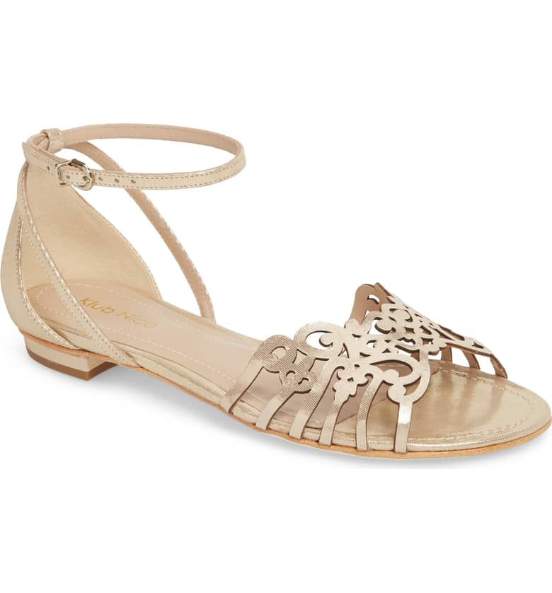 What Color Shoes To Wear With A Red Dress Gold Shoes Jamaica Sandal KLUB NICO Paris Chic Style 12