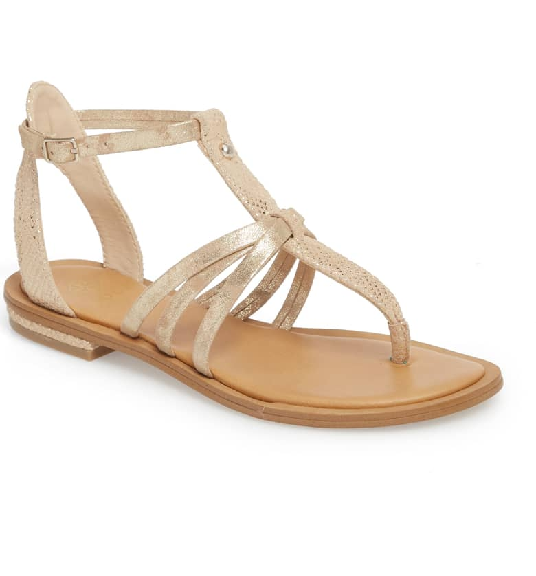What Color Shoes To Wear With A Red Dress Gold Shoes Marica Sandal ISOLÁ Paris Chic Style 8