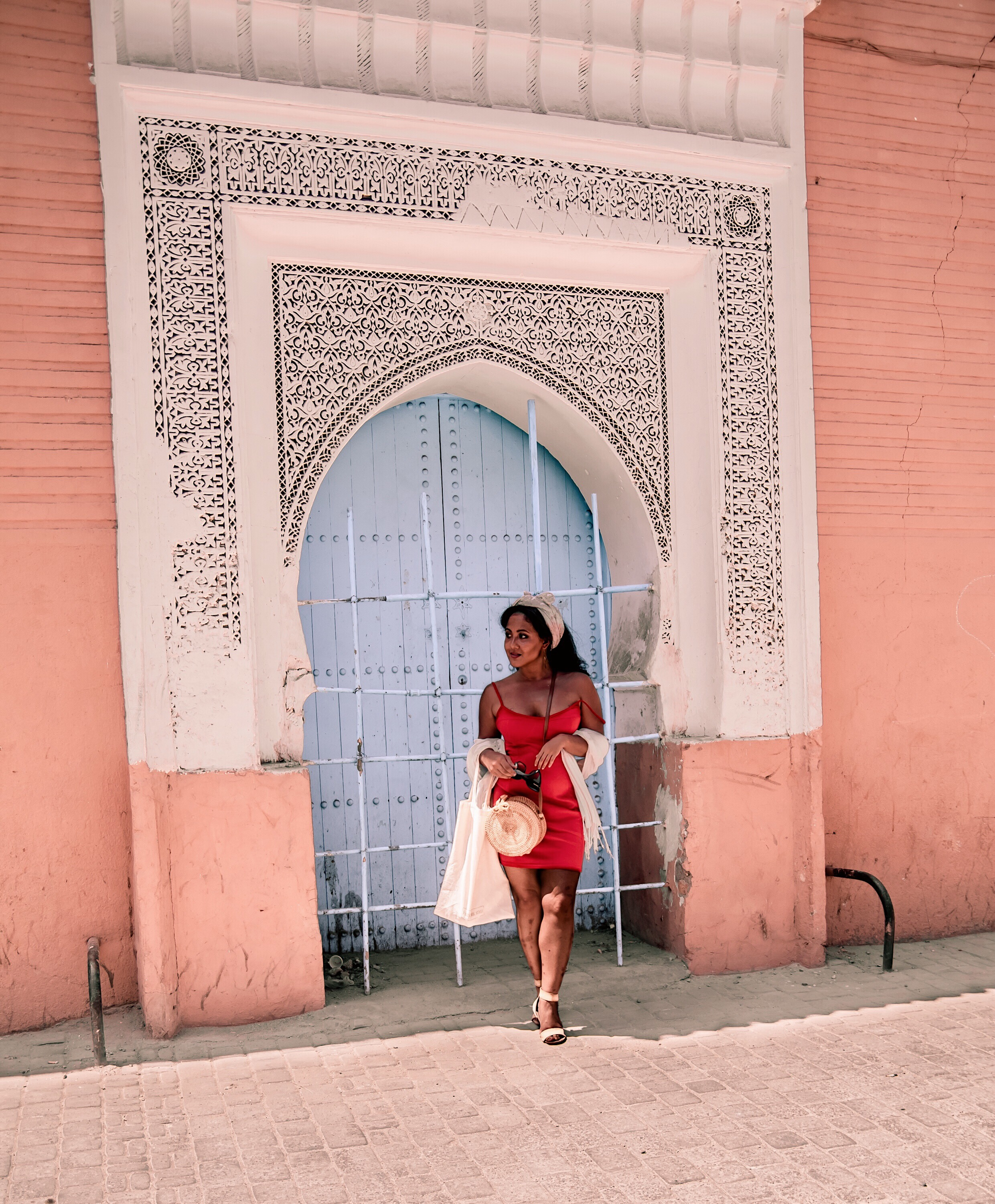 Marjolyn Lago Marj What-Color-Shoes-To-Wear-With-A-Red-Dress-How-To-Wear-A-Summer-Red-Dress-What-To-Wear-In-Morocco-Marrakech-Paris-Chic-Style-2