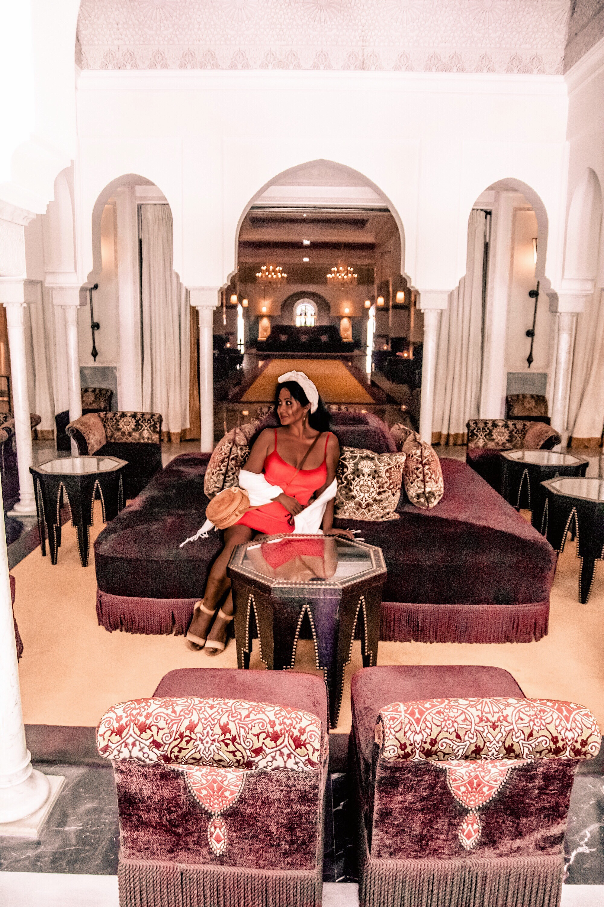 Marjolyn Lago Marj What Color Shoes To Wear With A Red Dress How To Wear A Summer Red Dress What To Wear In Morocco Marrakech Paris Chic Style 3