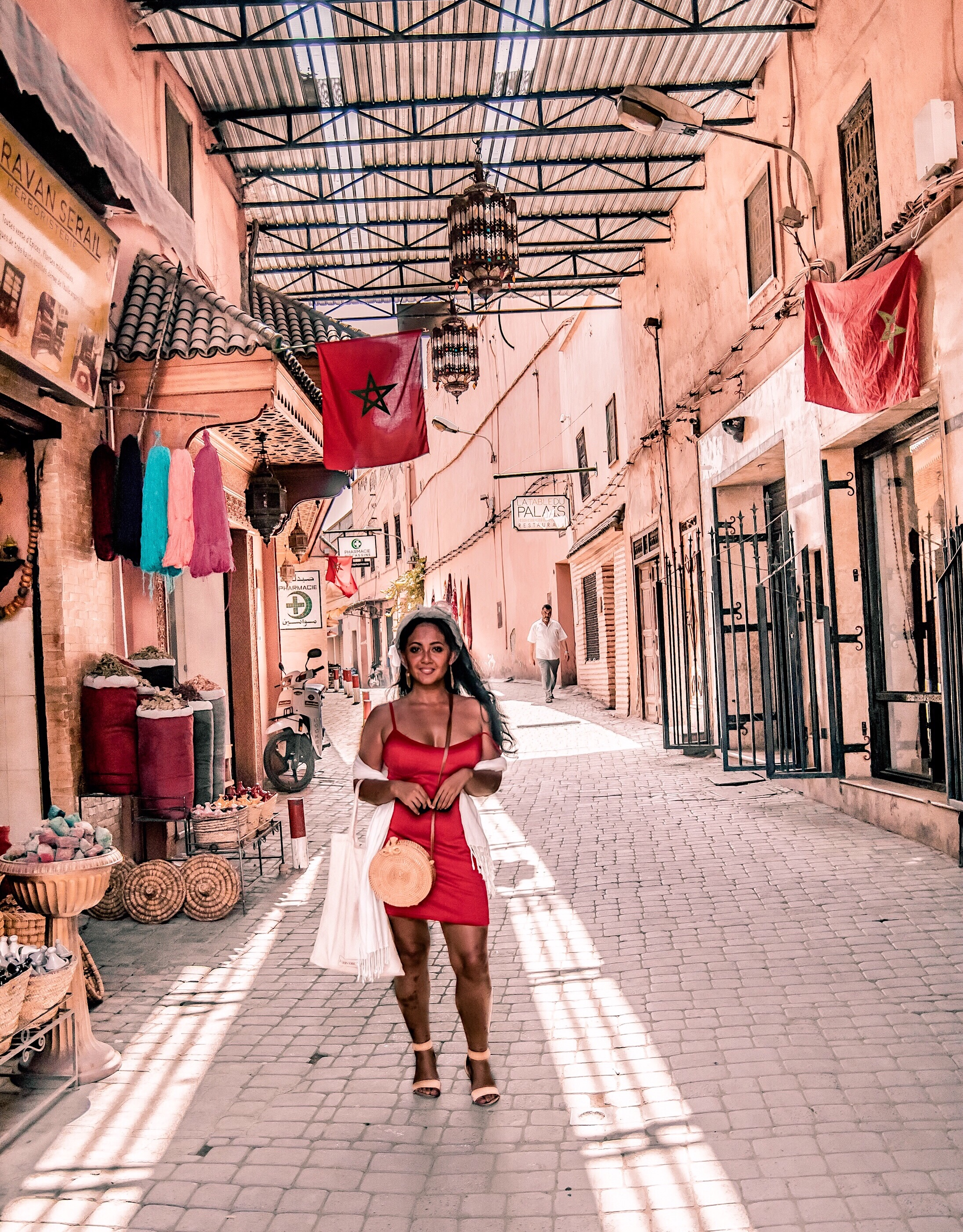 Marjolyn Lago Marj What-Color-Shoes-To-Wear-With-A-Red-Dress-How-To-Wear-A-Summer-Red-Dress-What-To-Wear-In-Morocco-Marrakech-Paris-Chic-Style-4