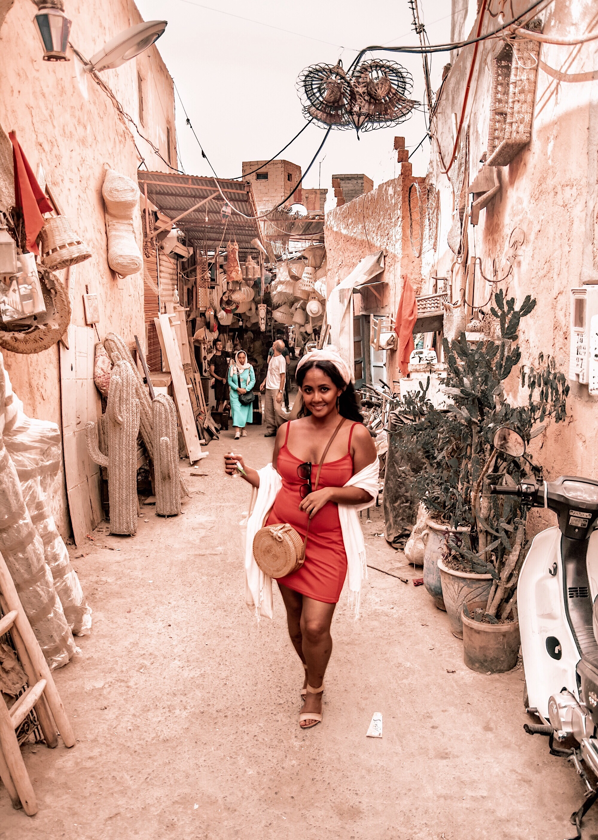 Marjolyn Lago Marj What-Color-Shoes-To-Wear-With-A-Red-Dress-How-To-Wear-A-Summer-Red-Dress-What-To-Wear-In-Morocco-Marrakech-Paris-Chic-Style-6