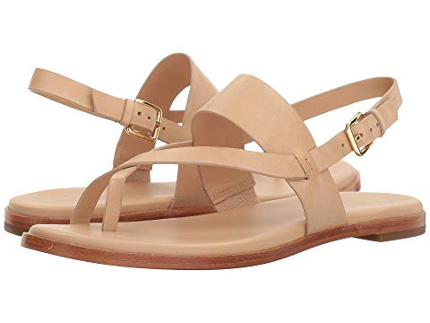 What Color Shoes To Wear With A Red Dress Nude Beige Blush Shoes Cole Haan Anica Thong Sandal Paris Chic Style 11