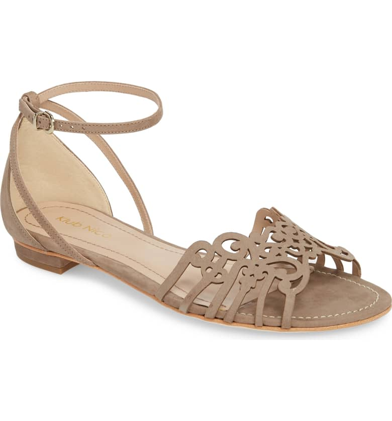 What Color Shoes To Wear With A Red Dress Nude Beige Blush Shoes Jamaica Sandal KLUB NICO Paris Chic Style 10