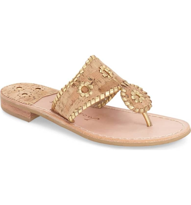 What Color Shoes To Wear With A Red Dress Nude Beige Blush Shoes Whipstitched Flip Flop JACK ROGERS Paris Chic Style 8