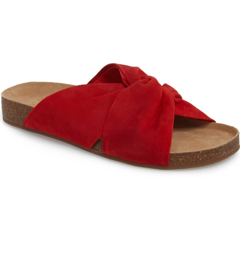 What Color Shoes To Wear With A Red Dress Red Shoes Biminti Slide Sandal VINCE CAMUTO Paris Chic Style 6