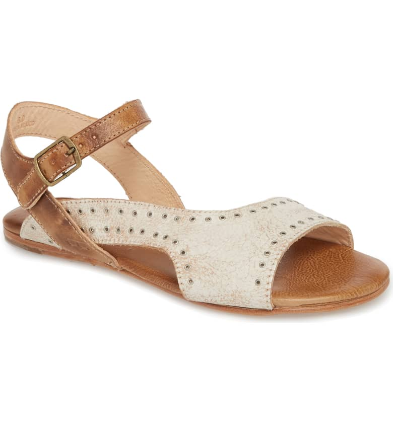 What Color Shoes To Wear With A Red Dress Two Tone Mixed Color Shoes Auburn Flat Sandal BED STU Paris Chic Style 8
