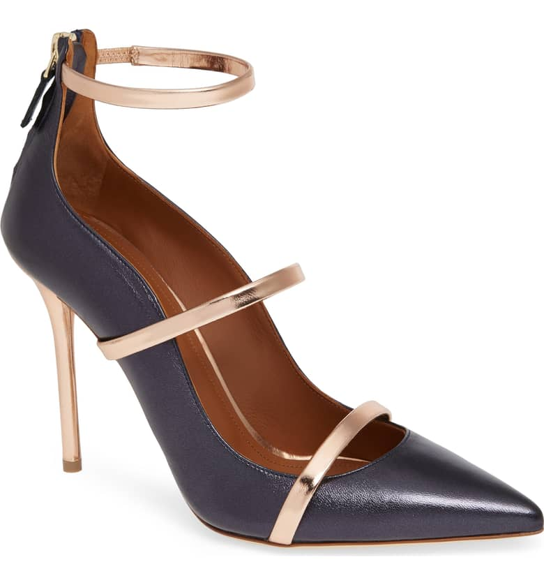 What Color Shoes To Wear With A Red Dress Two Tone Mixed Color Shoes Malone Souliers Robyn Tripe Strap Pump Paris Chic Style 6