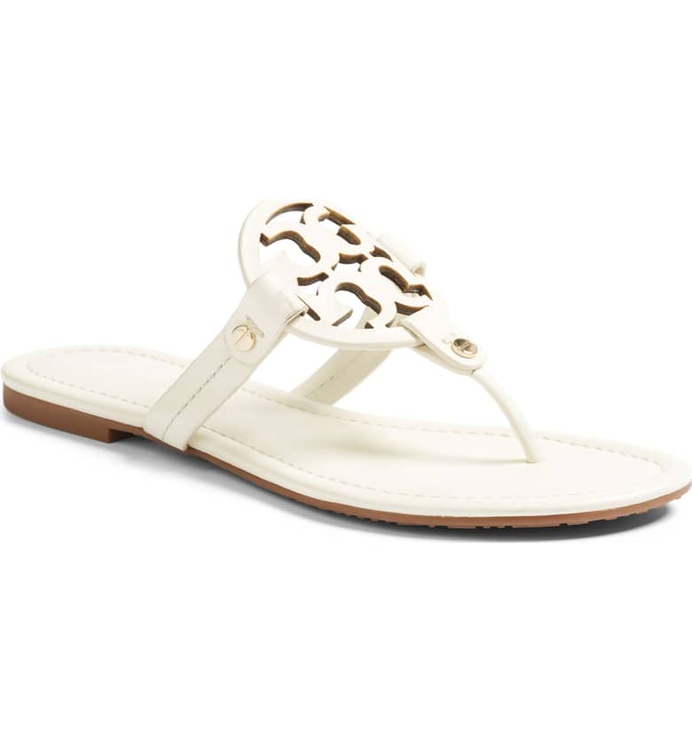 What Color Shoes To Wear With A Red Dress White Shoes Miller' Flip Flop TORY BURCH Paris Chic Style 4