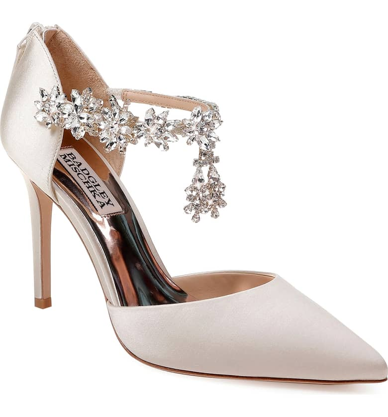 What Color Shoes To Wear With A Red Dress White Shoes Venom Crystal Embellished Pump BADGLEY MISCHKA Price Paris Chic Style 8