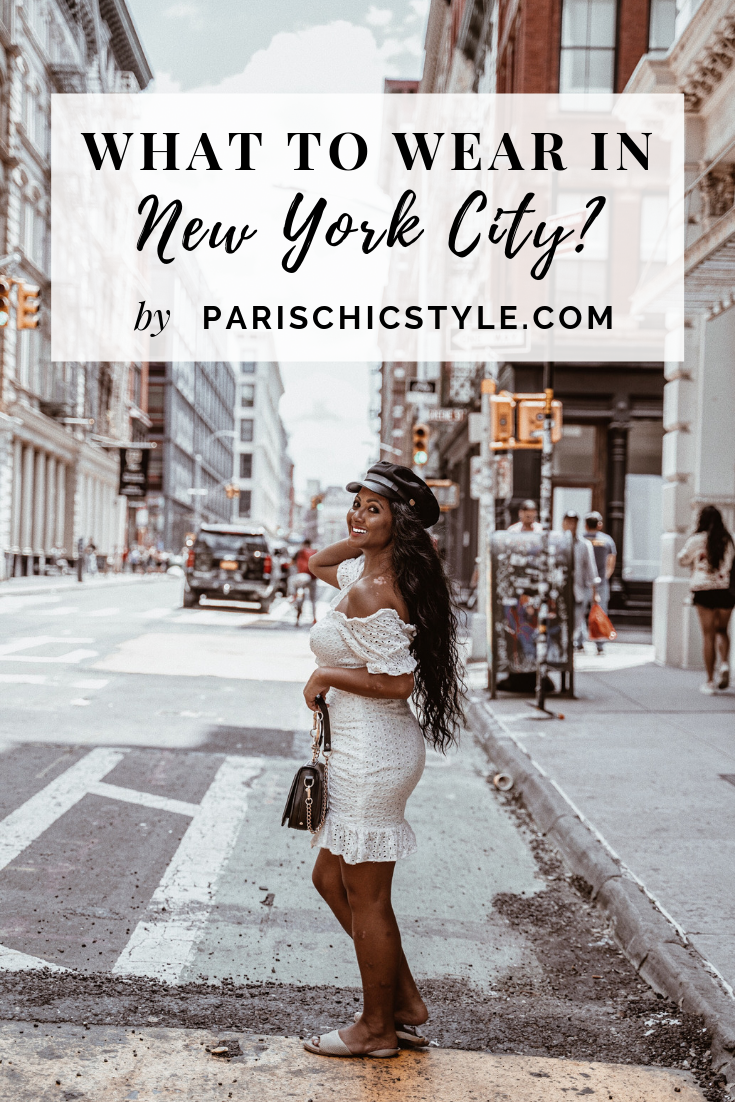 Marjolyn Lago Marj what to wear in new york city white off the shoulder dress paris chic style pinterest