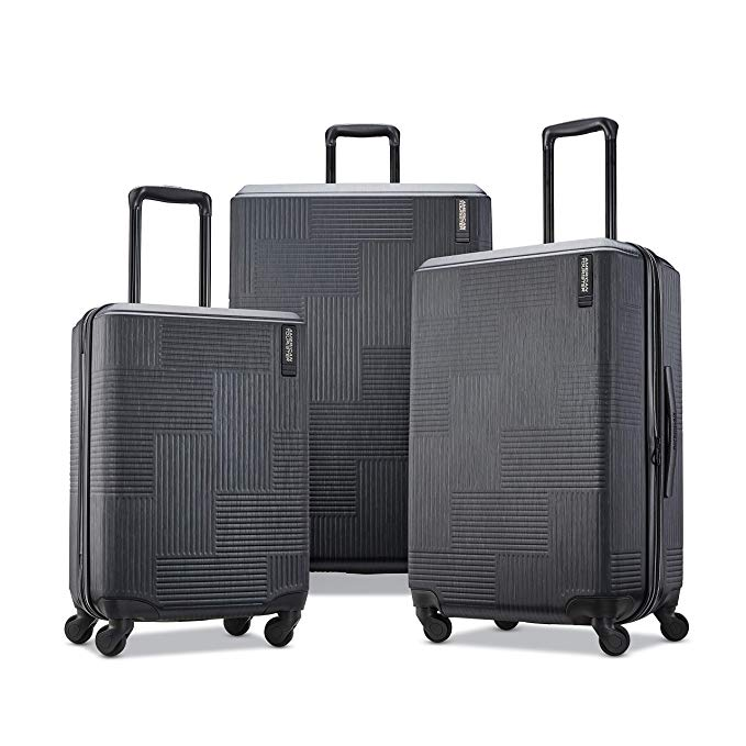 Best Travel Luggage Check In Checked Lightweight Travel Suitcase Stylish Sets American Tourister Stratum XLT Expandable Hardside Luggage with Spinner Wheels 5