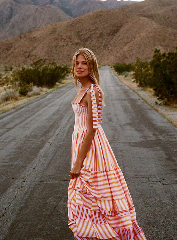 French Bohemian Chic Style Colorful Dress Paris Chic Style French Style Dresses from France