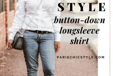 French Style Button Down Long Sleeve Shirt White Skinny Jeans Pump Heels Auckland New Zealand StreetStyle Wear Parisian Outfit Paris Chic Style