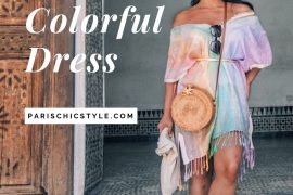 French Style Colorful Dress Marrakech Morocco France StreetStyle Wear Parisian Outfit Paris Chic Style