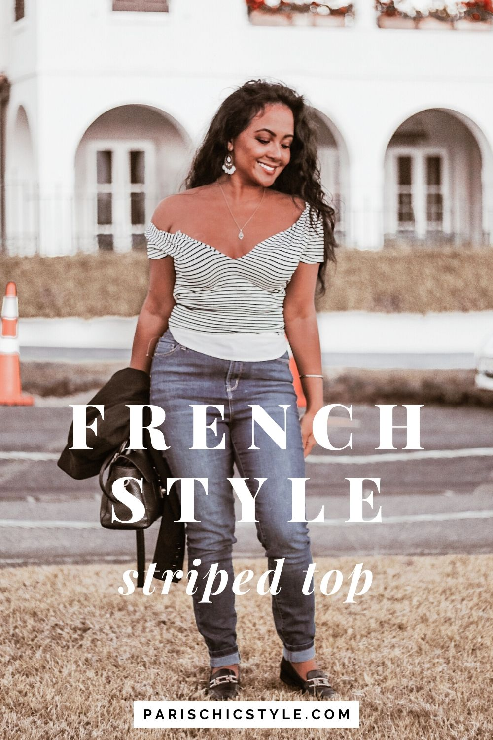 French Style Striped Top High Waisted Jeans Auckland New Zealand StreetStyle Wear Parisian Outfit Paris Chic Style