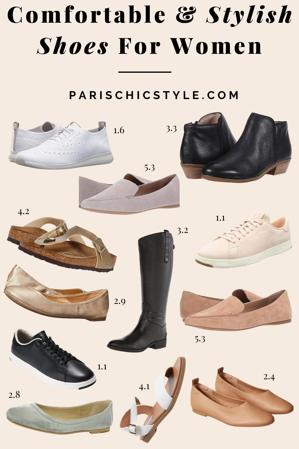 Most Comfortable Shoes For Women Walking Best Travel Shoes For Travel Work Street Style Paris Chic Style (1)