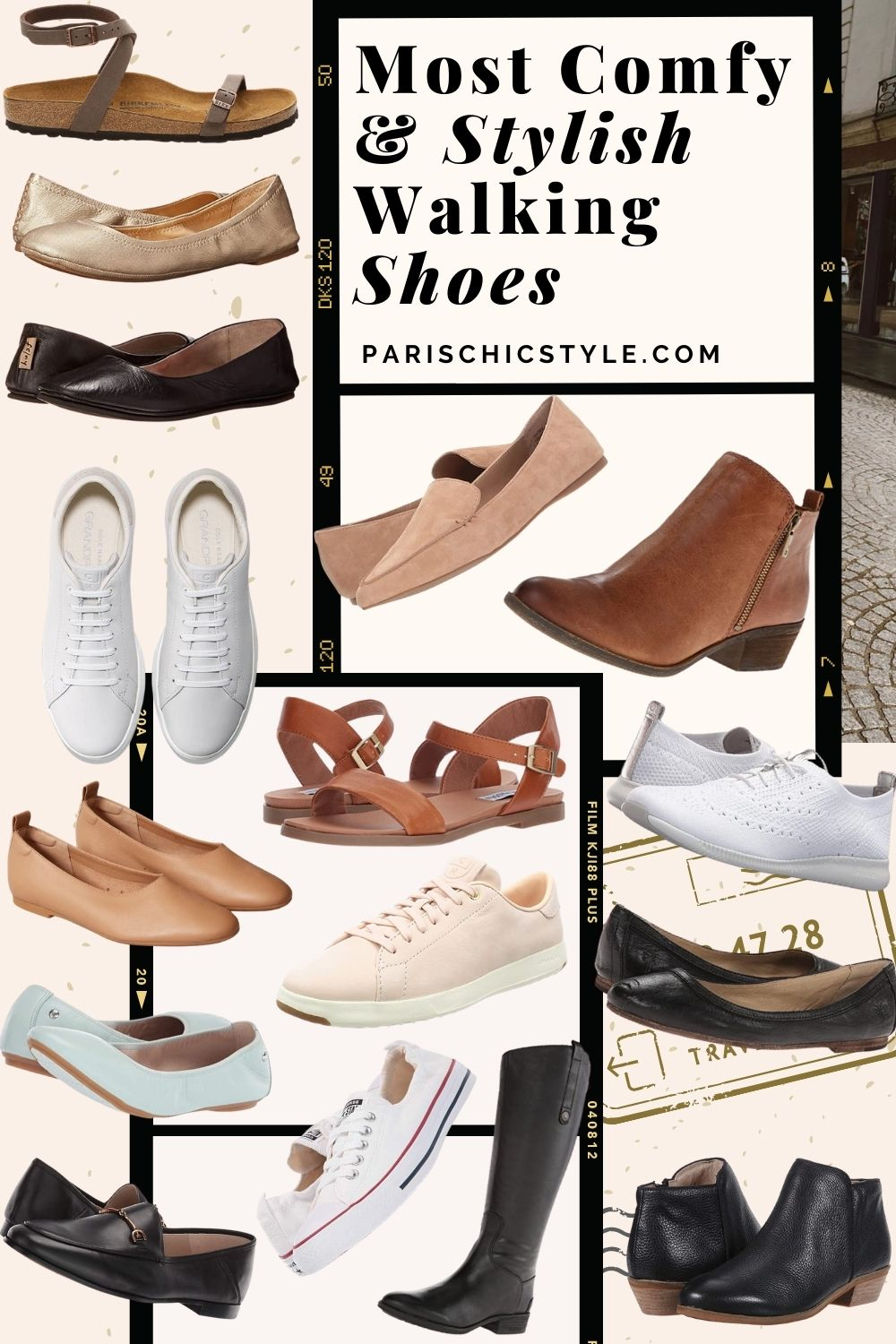Most Comfortable Shoes For Women Walking Best Travel Shoes For Travel Work Street Style Paris Chic Style (3)