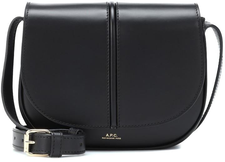 French Clothing Brand APC French Bag Leather Crossbody Bag Parisian Style Paris Chic Style