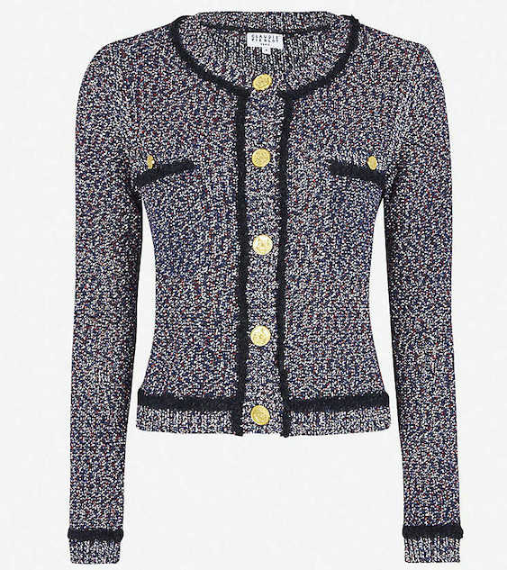 French Clothing Brand Claudie Pierlot French Cardigan Sweater Parisian Style Paris Chic Style