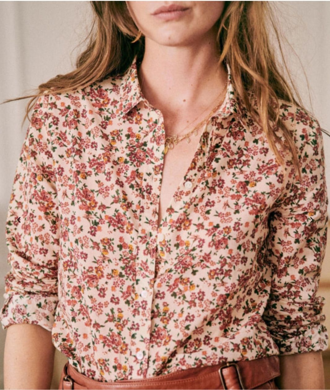 French Clothing Brand Parisian Style Floral Top Paris Chic Style Sezane