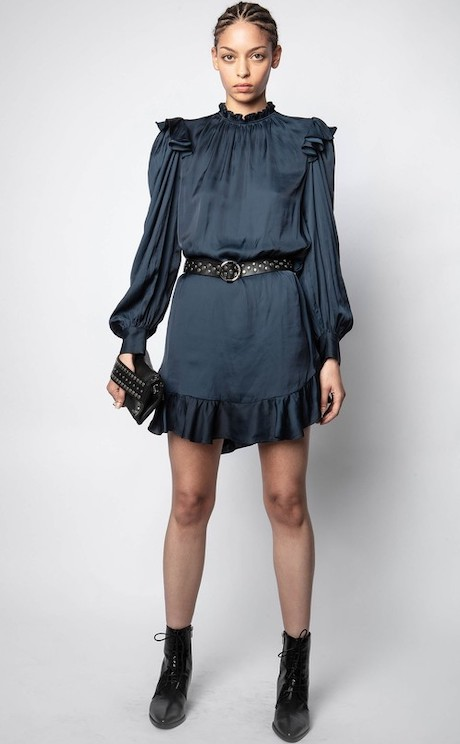 French Clothing Brand Zadig Voltaire Parisian Style Dress Paris Chic Style