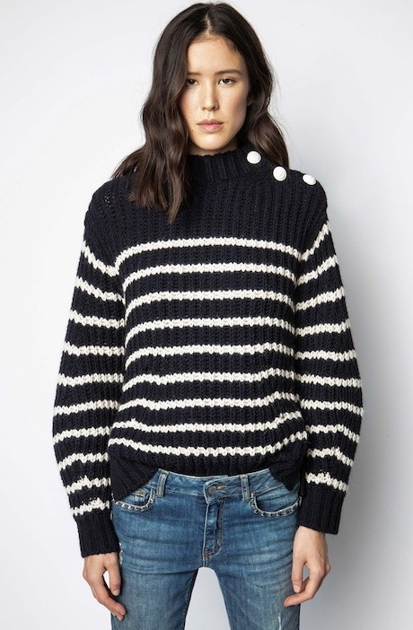French Clothing Brand Zadig Voltaire Parisian Style Jumper Sweater Paris Chic Style