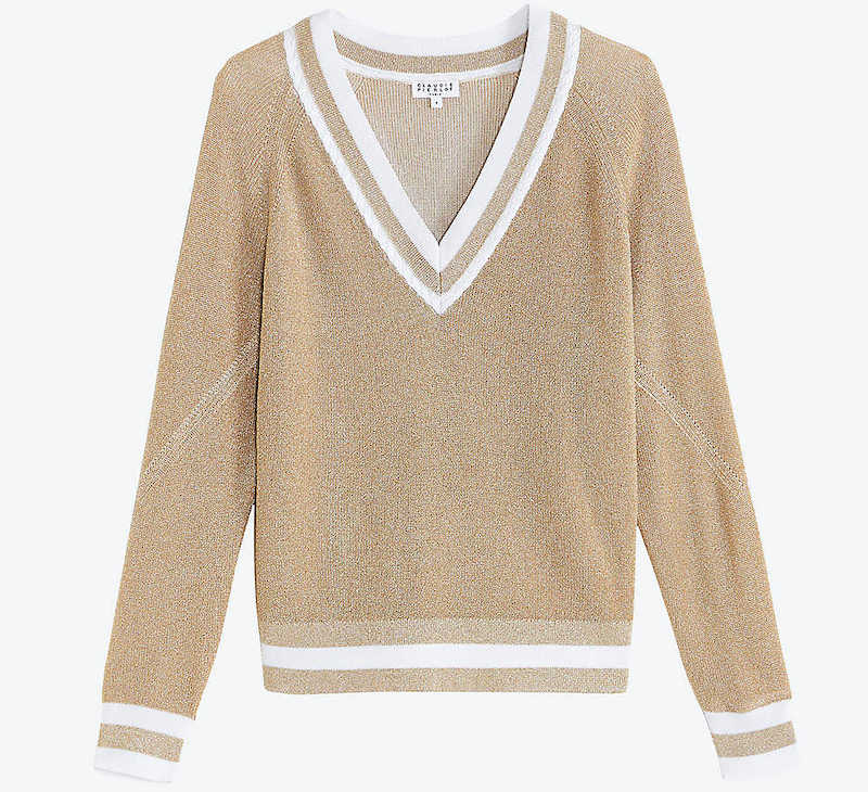 French Fashion Clothing Brand Claudie Pierlot French Cardigan Sweater Parisian Style Paris Chic Style