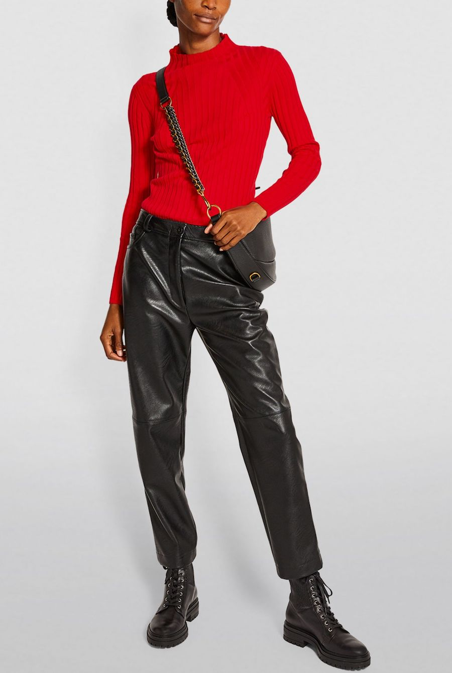 French Fashion Clothing Brand Claudie Pierlot French Red Sweater Parisian Style Paris Chic Style