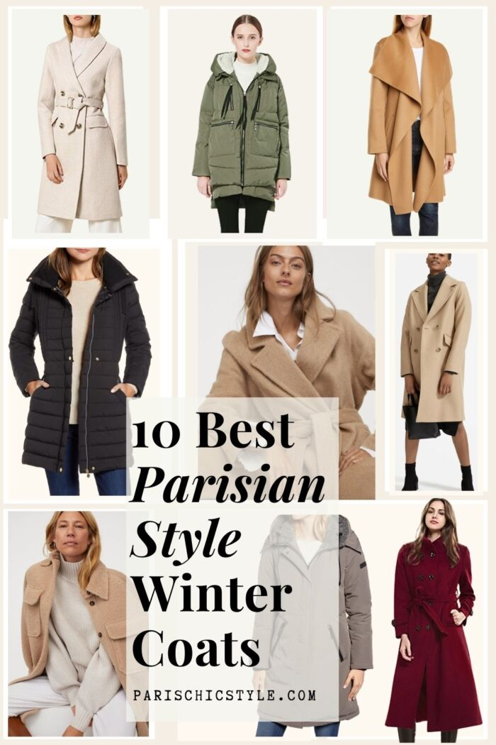 Best Winter Coats For Women Everyday Work Travel Street Style Parisian Style Chic Paris Chic Style New York Italy