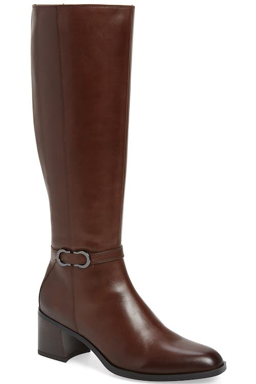 Most Comfortable Stylish Long Riding Boots For Wide Calves Naturalizer Sterling Long Boots Brown Paris Chic Style
