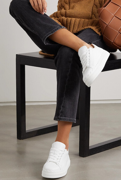 Chloe French Parisian White Sneakers For Walking, Street Style, Everyday Shoes, Work, Travel Paris Chic Style