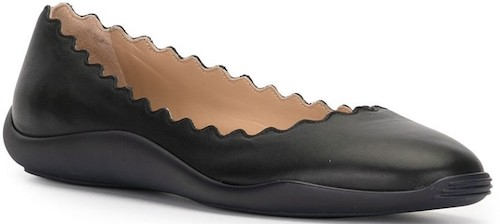 Chloe Parisian Black Leather French Ballet Flats For Walking Work Travel Everday Street Style Shoes Paris Chic Style