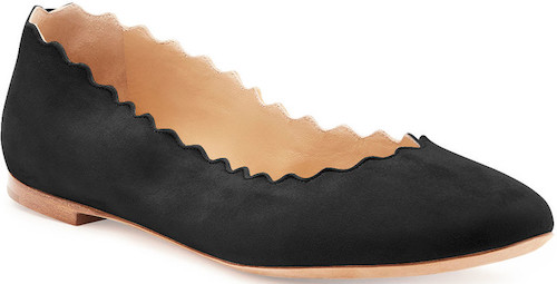 Chloe Parisian Black Suede French Ballet Flats For Walking Work Travel Everday Street Style Shoes Paris Chic Style