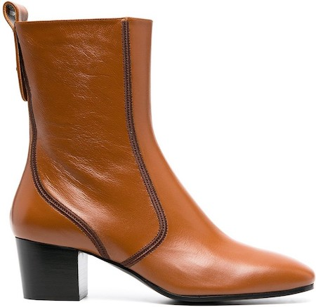 Chloe Parisian Shoes Brown French Boots For Work Walking Sightseeing Travel Street Style Paris Chic Style
