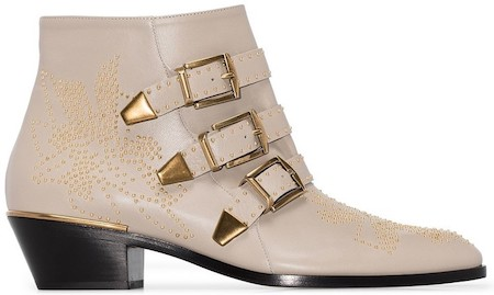 Chloe Parisian Shoes French Ankle Boots For Work Walking Sightseeing Travel Street Style Paris Chic Style