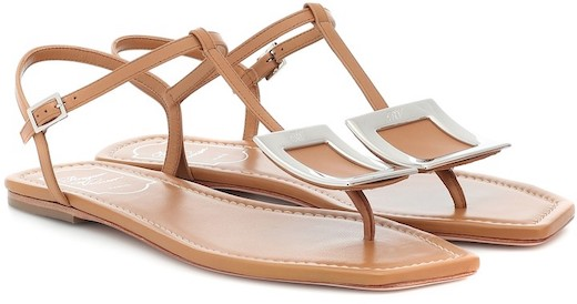 Roger Vivier French Sandals For Summer Walking Travel Sightseeing Work Everyday Wear Parisian Street Style Strappy Shoes Paris Chic Style