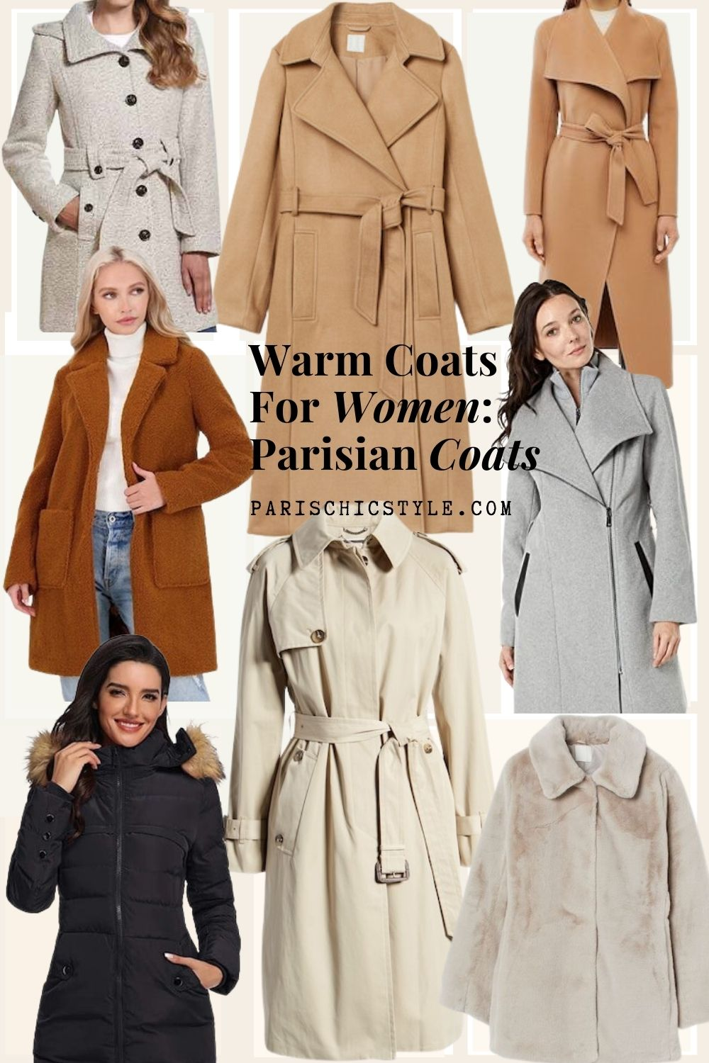 Best Coats For Women Travel Sightseeing Streetstyle Walking Work Weddings Paris Chic Style Trench Coats Peacoats Faux Fur Teddy Coats Puffer (1)