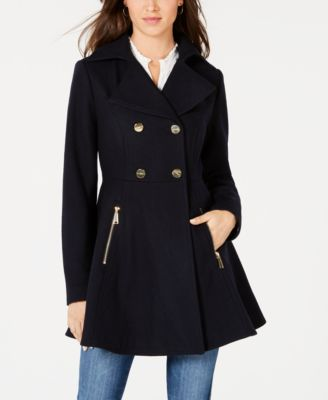 Best Peacoat For Women French Style Double Breasted Skirted Peacoat Paris Chic Style