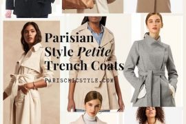 Best Petite Trench Coats Jackets For Women French Style Trench Coats Paris Chic Style
