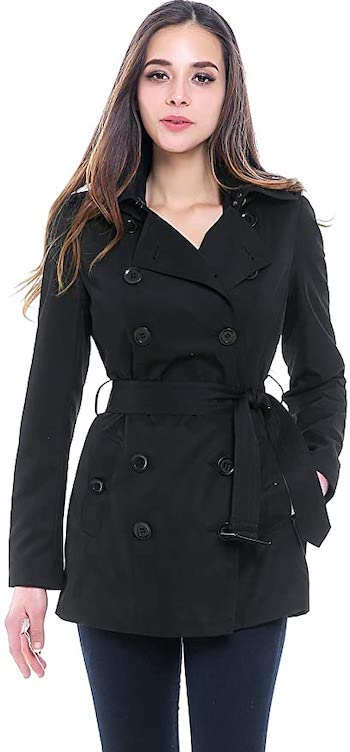 Best Waterproof Hooded Short Trench Coat Parisian Fashion Trench Coat Paris Chic Style