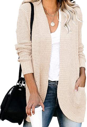 Chic Comfortable Cocoon Cardigan For Spring Fall Winter Chunky Long Knit Draped Sweater Paris Chic Style