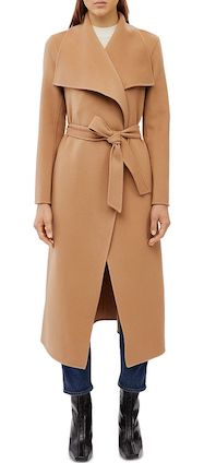 Mackage Best Trench Coat For Women Parisian Style Belted Lightweight Wool Wrap Coat For Fall Winter Paris Chic Style