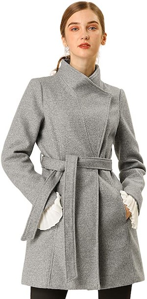 Medium French Style Trench Coat For Petite Women Paris Chic Style