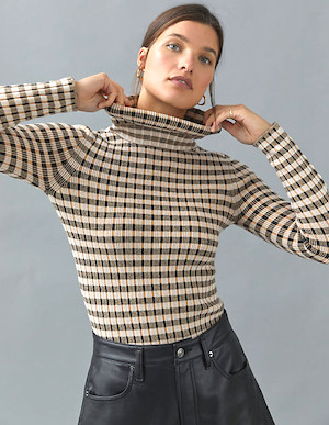 Parisian Turtleneck Sweater For Women Best Cardigan For Fall Winter Paris Chic Style